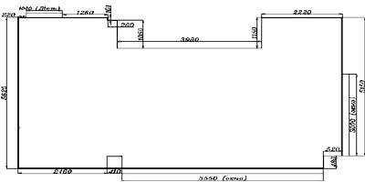 Пример плана пустого помещения с размерами