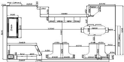 Пример расстановки мебели и перегородок в помещении